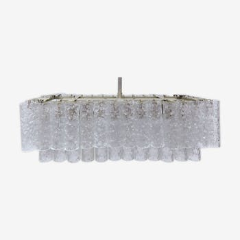 Lustre en verre Murano givré de Doria Leuchten 1960s