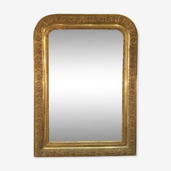 Miroir moulures dorées XIXeme