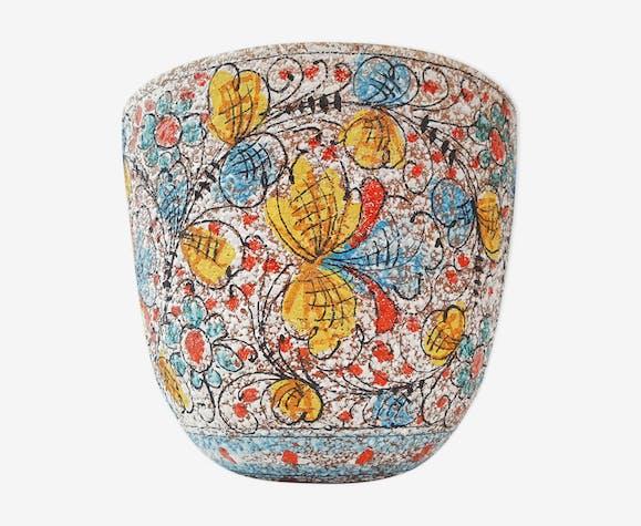 Cache-pot italien en céramique 1950 vintage