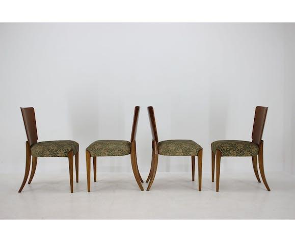 Lot de 4 chaises Art Déco H-214 de Jindrich Halabala pour UP Závody