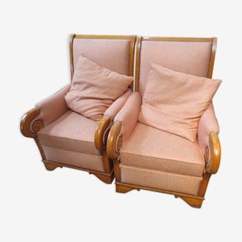 Paire de fauteuils style Louis Philippe