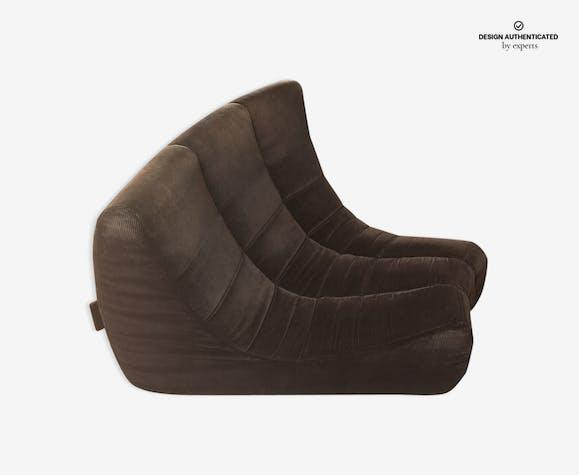 Circle Sofa Model Gilda By Michel Ducaroy Roset Fabric Brown