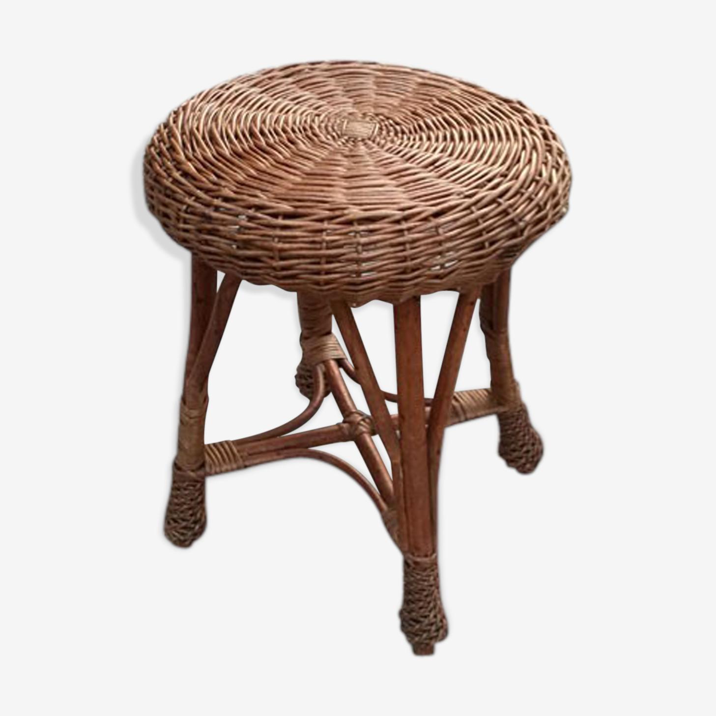 Braided Wicker stool