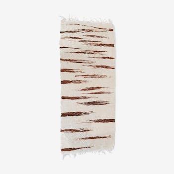 Tapis artisanal pure laine 118x50cm