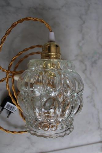 Lampe baladeuse en verre moulé