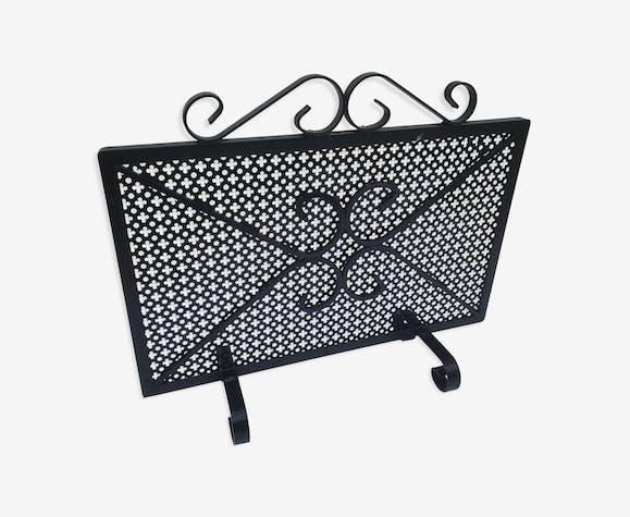 ancien pare feu de chemin e en fer forg noir vintage m tal noir vintage ryindhg. Black Bedroom Furniture Sets. Home Design Ideas