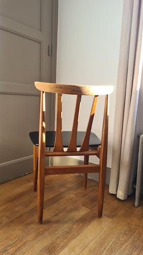 Chaise anglaise bois et skaï
