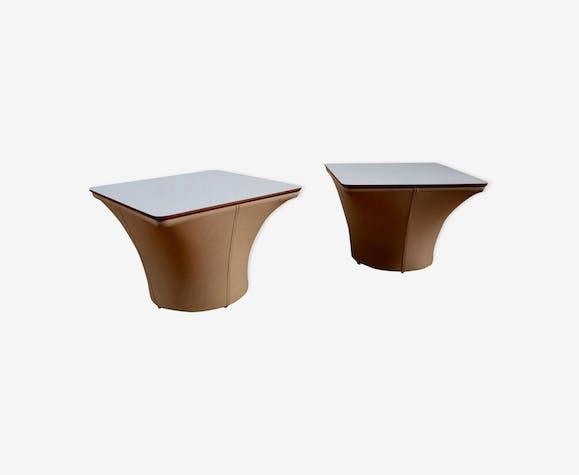 tables basse ou chevets pierre paulin mushroom bois mat riau blanc design xjvbgrp. Black Bedroom Furniture Sets. Home Design Ideas