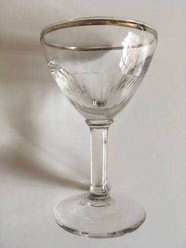 Série de 5 verres de comptoir bistrot à pans coupés