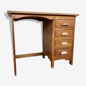 Administrative desk in oak 1900 vintage