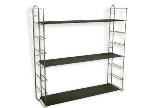 etagere vintage string tomado 3 niveaux laiton vintage 78255. Black Bedroom Furniture Sets. Home Design Ideas