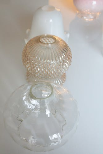 Abat-jour en verre vintage