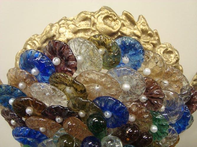 Paire d'appliques en verre de Murano forme grappes de raisin