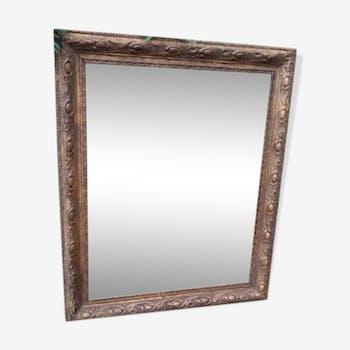 Miroir ancien avec son cadre doré 60x50cm