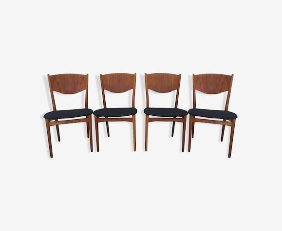 Ensemble de 4 chaises danoises par Rosengren Hansen