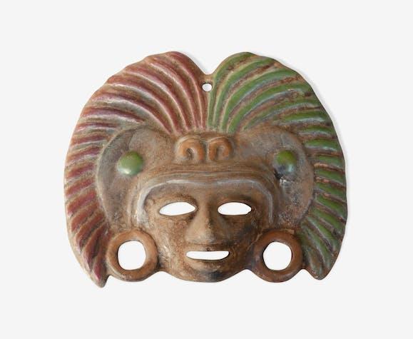 Masque ethnique en terre cuite
