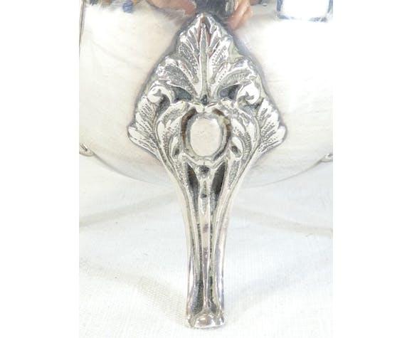 Théière Ercuis en métal argenté style Napoleon III