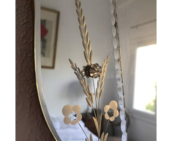 Miroir Vénitien Murano 1960 - 62 x 51 cm