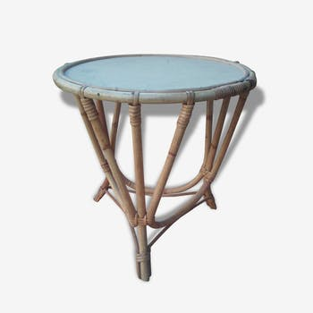 Table rattan vintage or end table