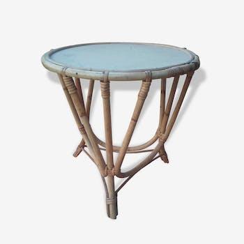 Table rotin vintage ou guéridon