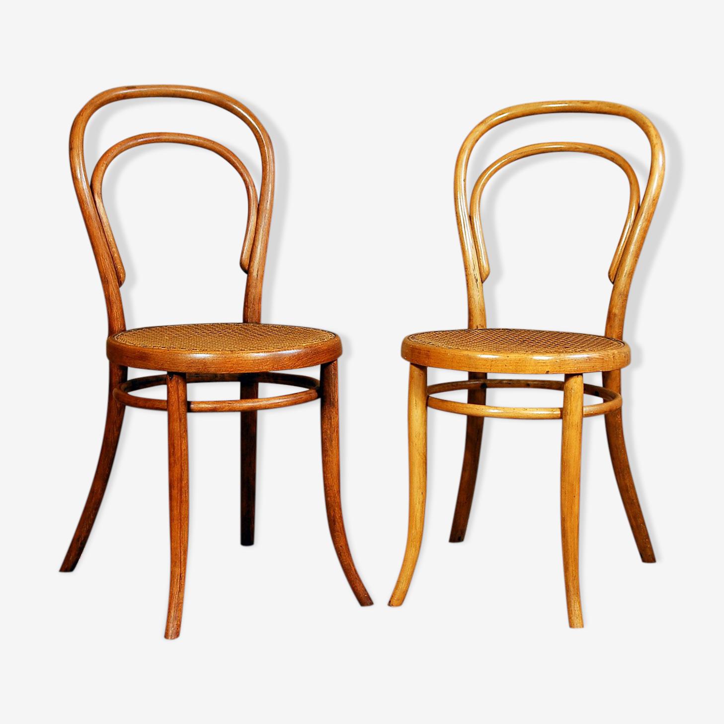 Paire de chaises bistrot n°14 de Türpe 1900