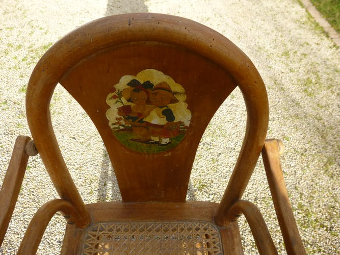 Chaise haute de bébé années 30/40