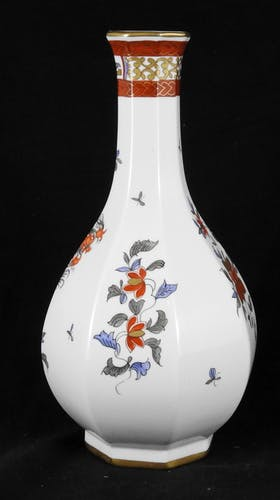 Vase en porcelaine de Paris décor compagnie des indes