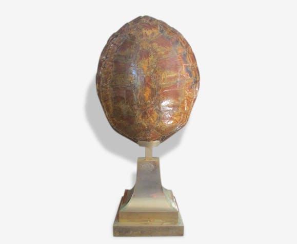 Lampe carapace de tortue ann es 70 laiton dor design 96962 - Lampe chauffante tortue ...