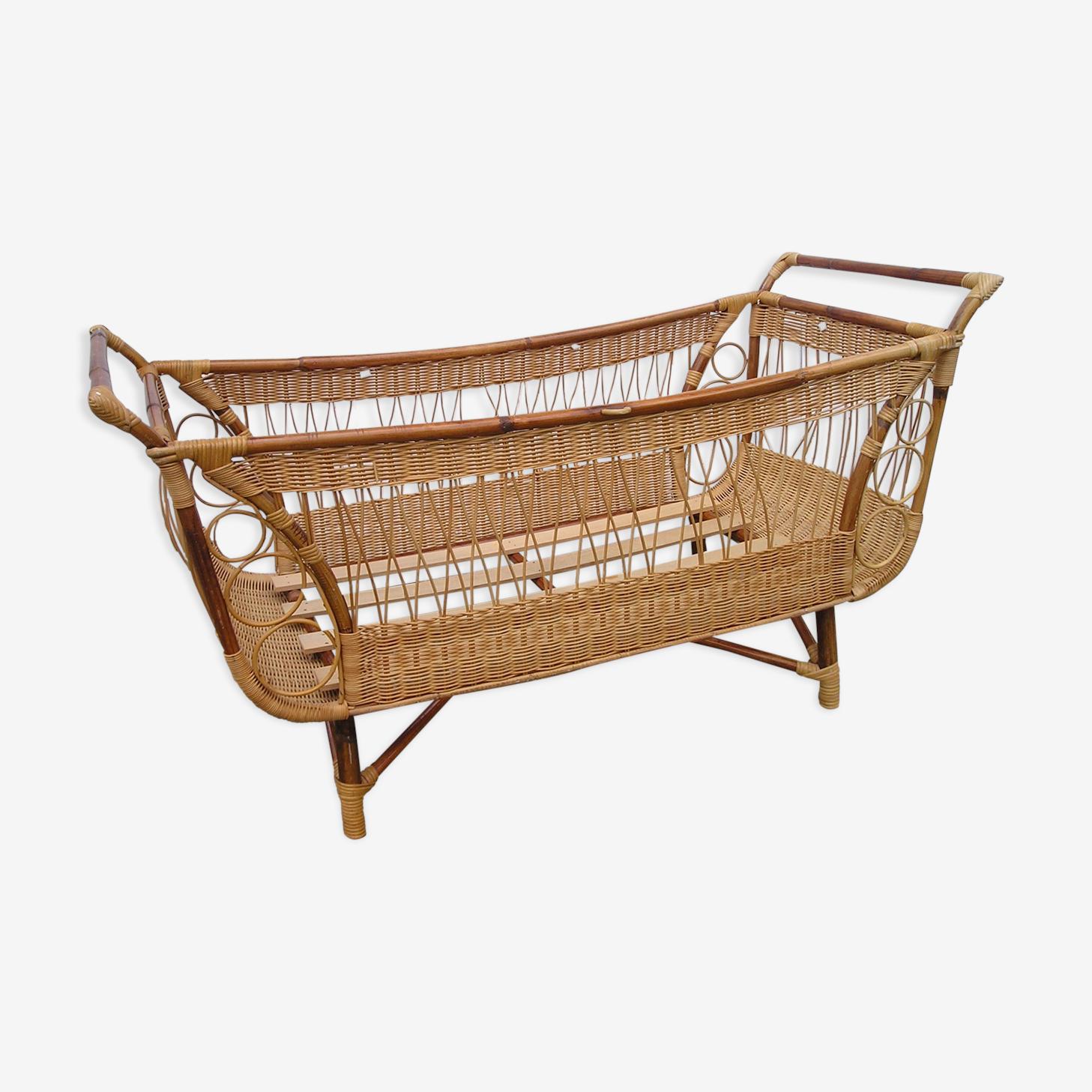 Crib rattan of the 1970s