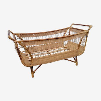 Crib rattan of the 1970s