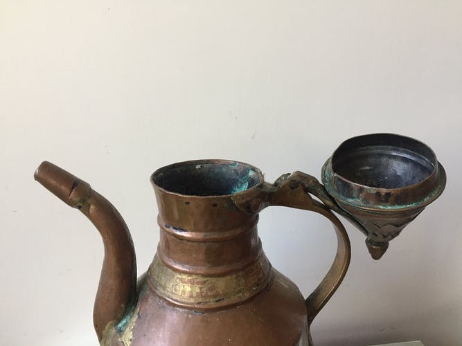 Aiguière en cuivre ottomane de l'art islamique