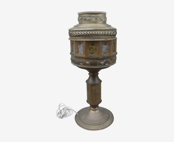 Ancienne lampe laiton orientaliste