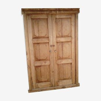 Old teak door