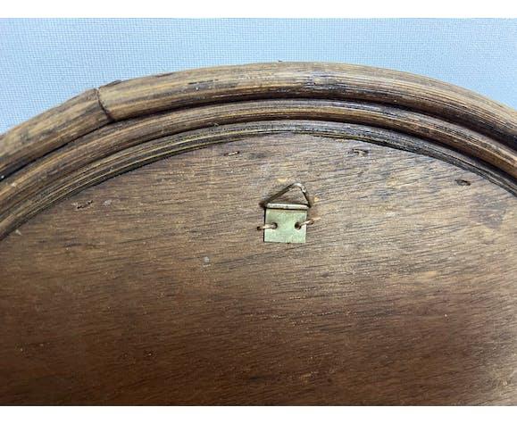 Miroir en rotin - 30cm