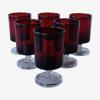 Verres à liqueur Luminarc rubis