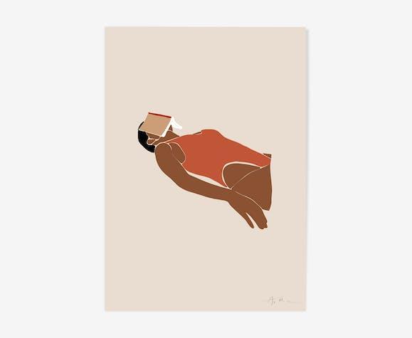 "Illustration ""la bronzette n°1"""