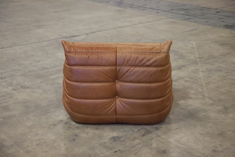 """""""Togo"""" chair leather by Michel Ducaroy for Ligne Roset"""