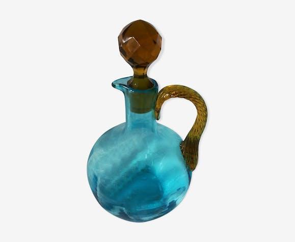 Carafe de liqueur turquoise