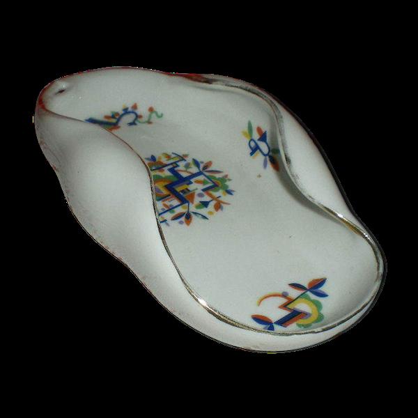 Ravier en porcelaine de Limoges style Art Déco