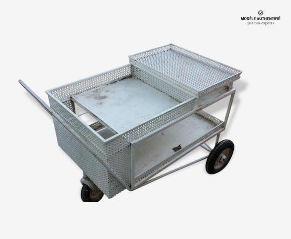 Table de jardin 1950 Mathieu Mategot - métal - bleu - industriel - 45972