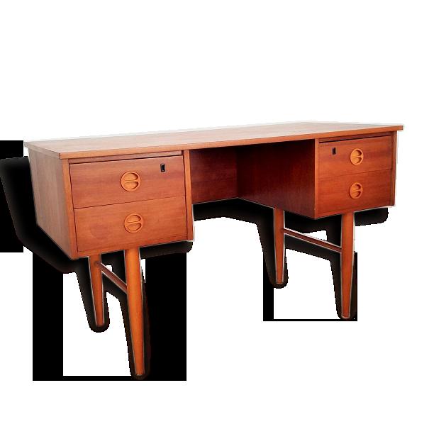 Bureau allemand style scandinave bois matériau bois couleur