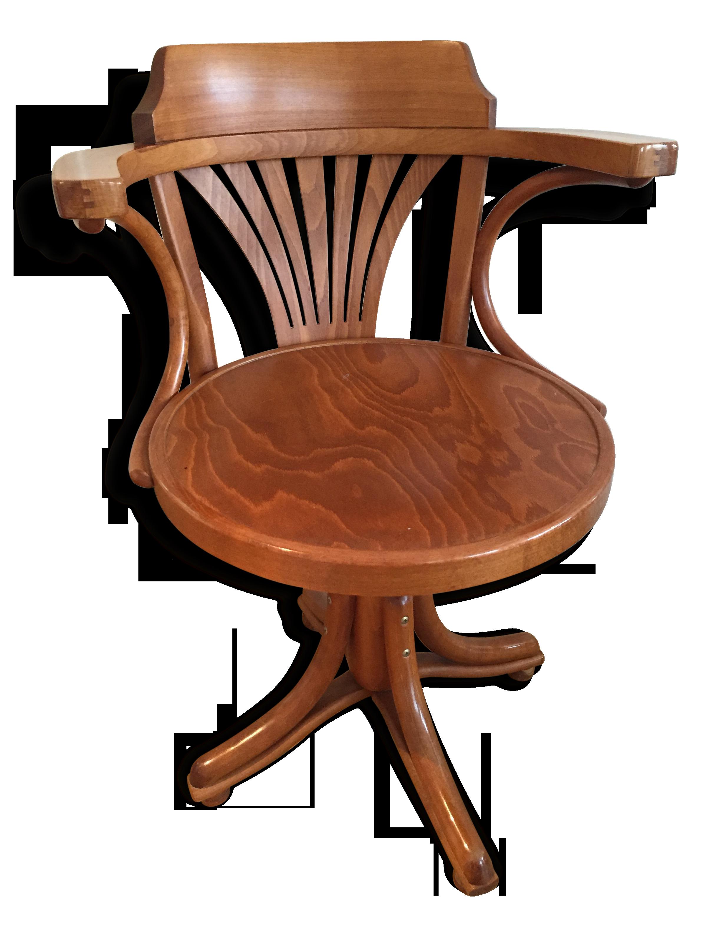 Fauteuil de bureau américain pivotant bois matériau bois