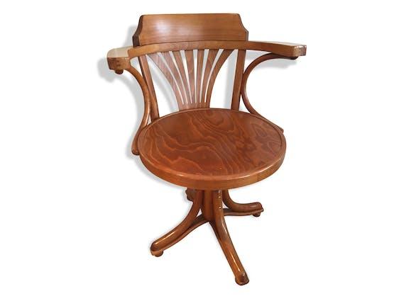 fauteuil de bureau am ricain pivotant bois mat riau bois couleur classique 85037. Black Bedroom Furniture Sets. Home Design Ideas