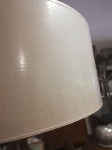 Lampadaire en bois flotté pied en marbre blanc