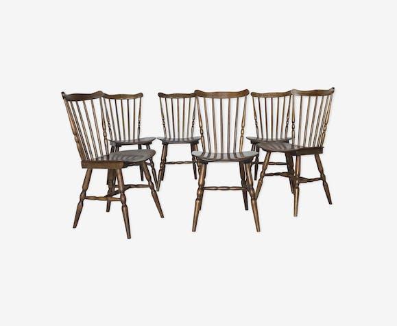 6 chaises Baumann Tacoma années 60