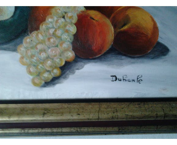painting painting with oil on canvas signed (still life)