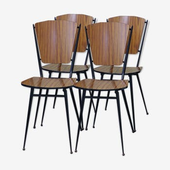 Set of 4 chairs Fusmatic in formica 60s