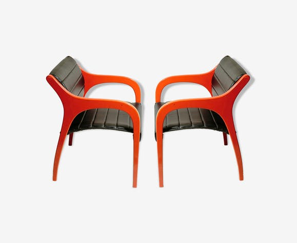 Pair of chairs by Claudio Salocchi