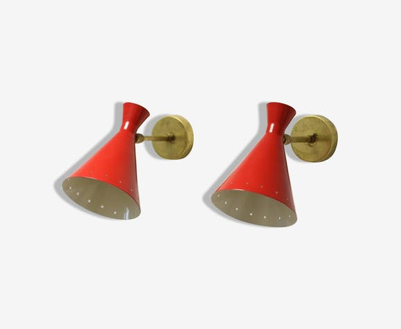 Pair of sconces in the style of creations of the 50s