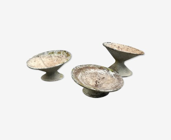 3 vasques diabolo en fibrociment années 60